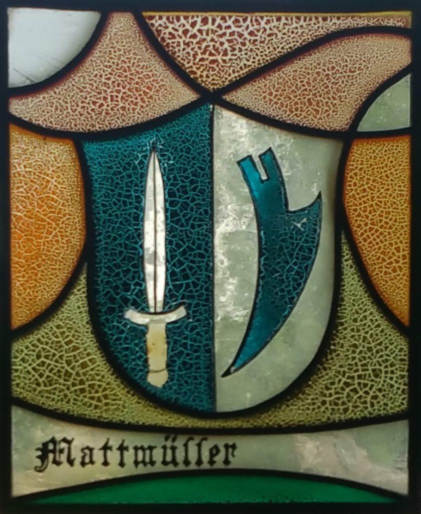 Wappenscheibe Martin Mattmüller *15.9.1954