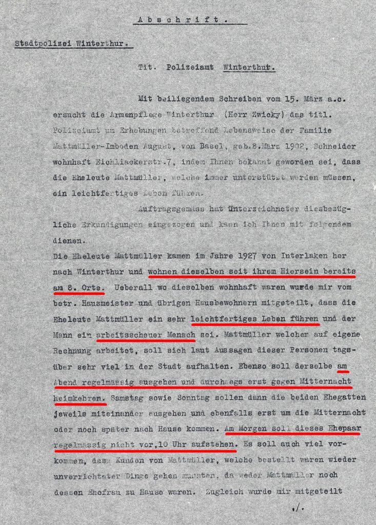 Polzeirapport Seite 1