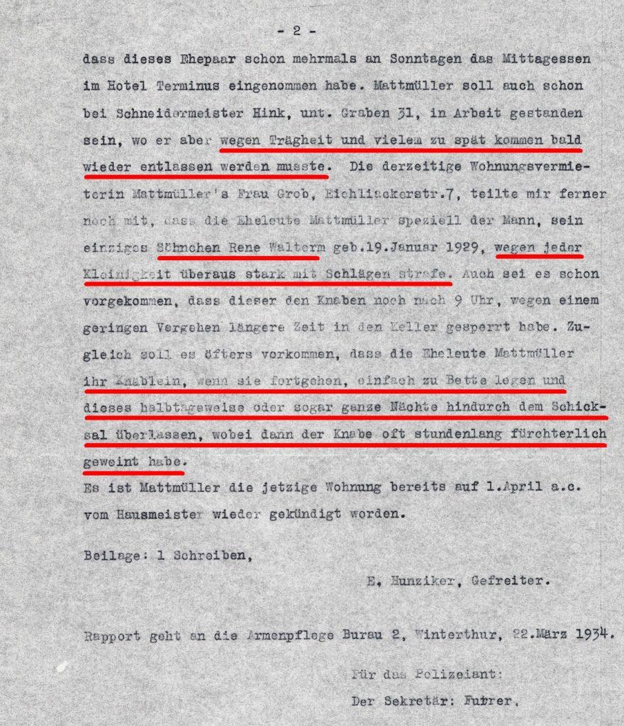 Polizeisrapport Seite 2
