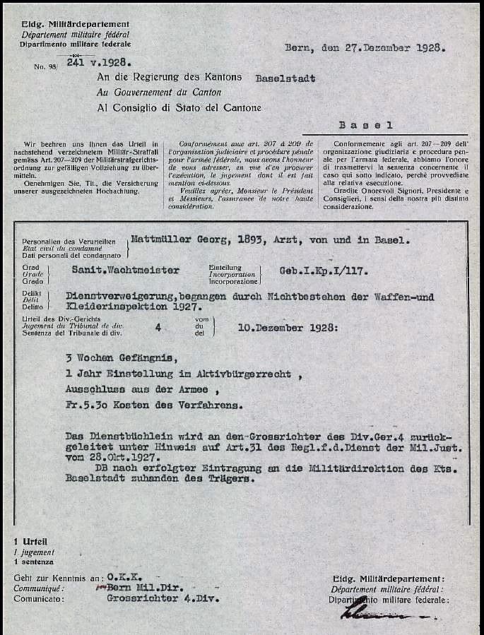 Urteil Mattmüller Georg *1893